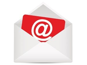 Open envelope with the e-mail symbol