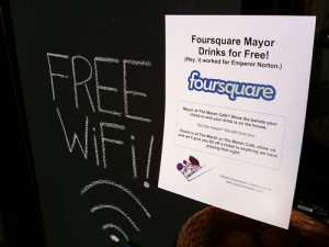 Example of Foursquare rewards.