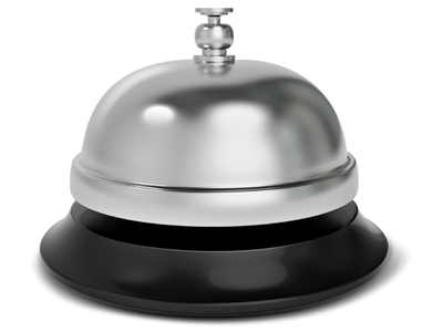 Desk bell to ring for service