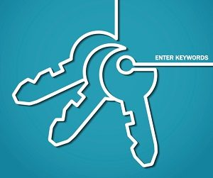 Stylized picture of keys as keywords