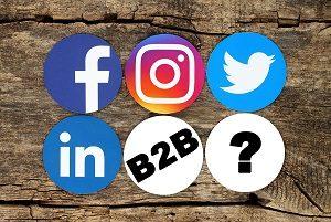 Social Media Icons with B2B