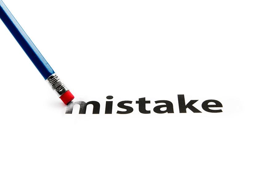 erase mistake