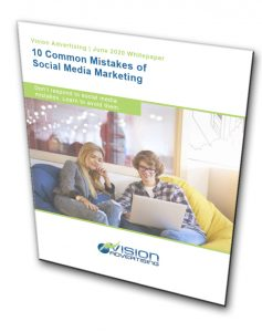 """A picture of the cover of the """"10 Common Mistake of Social Media Marketing"""" guide"""