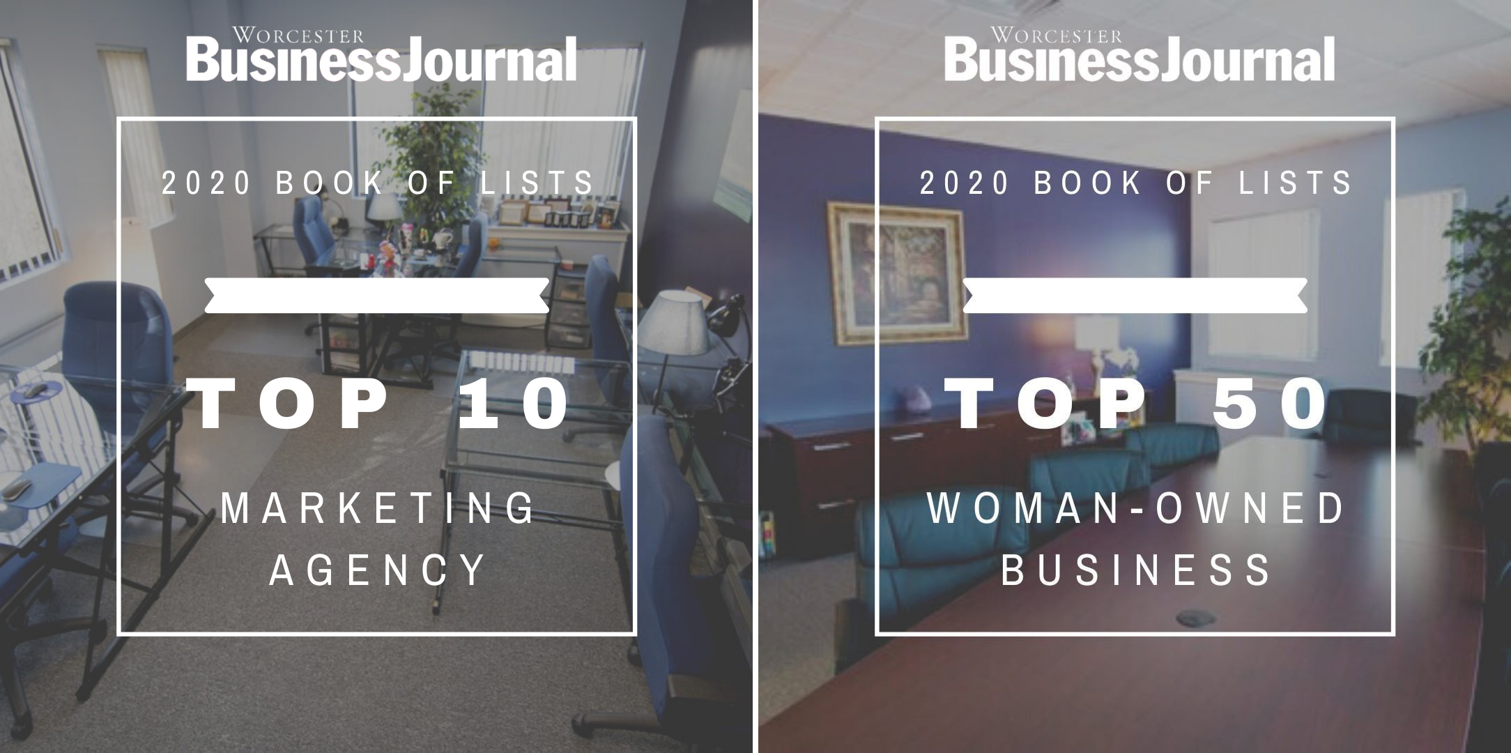 Vision Advertising as a Top Marketing Agency and Women Owned Business in the WBJ Book of Lists for 2020.