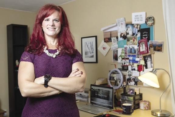 Julia Becker Collins in her home office.