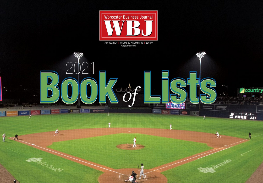 Cover of the Worcester Business Journal's 2021 Book of Lists.