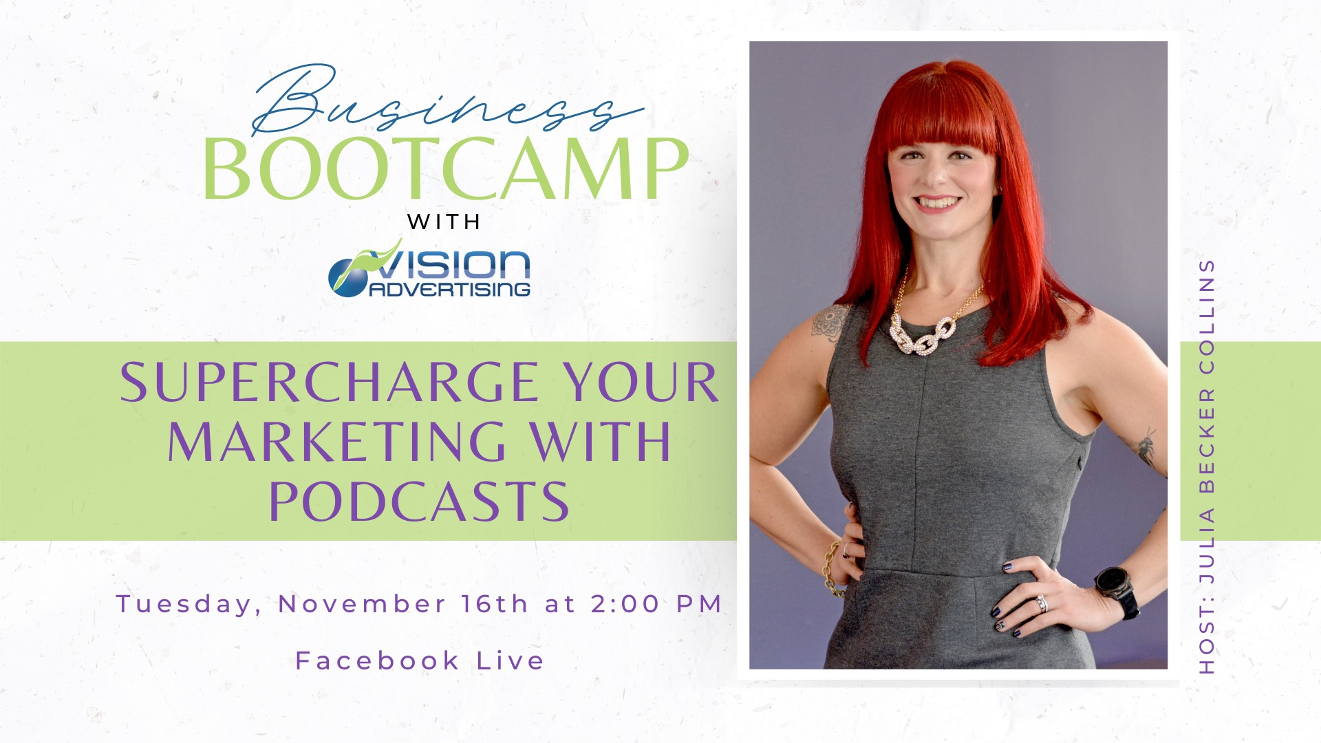 Supercharge Your Marketing With Podcasts with Julia Becker Collins.