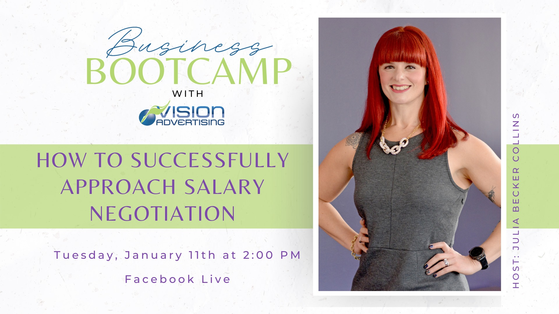 How to Successfully Approach Salary Negotiation with Julia Becker Collins.